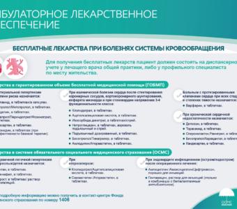 Бесплатные лекарства при болезнях системы кровообращения